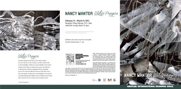 Nancy Manter, Water Prayers