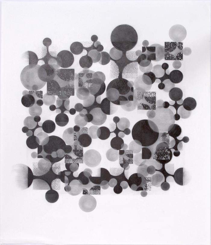 "Beth Caspar, Circling the Square #14, graphite on paper, 27"" x 23"", 2005"
