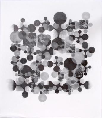 "Beth Caspar, Circling the Square #14, graphite on paper, 27"" x 23"", 2005"