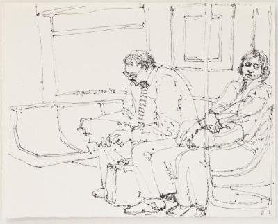 Subway Riders: Man and Woman