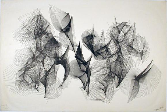 """Herbert Brun, Links III """"All"""", 1973"""