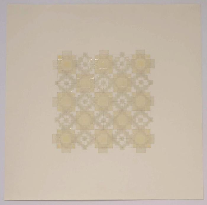 """Marietta Hoferer, Small Crystal #18, tape and pencil on paper, 21"""" x 21"""", 2008"""