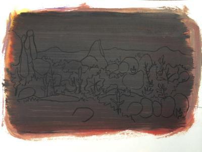 "Felipe Goes, ""Drawing #254,"" acrylic on paper, 12"" x 18"", 2014"