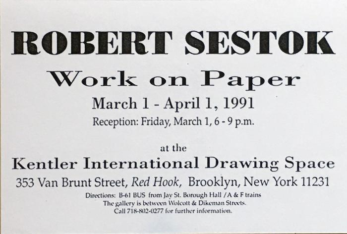 Robert Sestok, Work on Paper