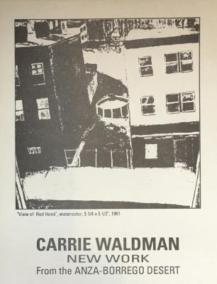 Carrie Waldman, New Work from the Anza-Borrego Desert