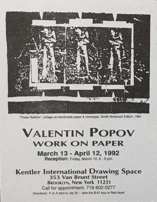Valentin Popov, Work on Paper