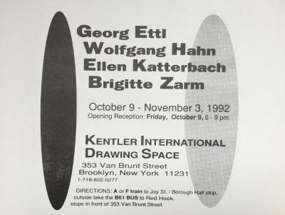 Ettl, Hahn, Katterbach and Zarm, Works on Paper