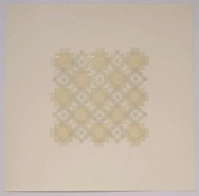 "Marietta Hoferer, Small Crystal #18, tape and pencil on paper, 21"" x 21"", 2008"