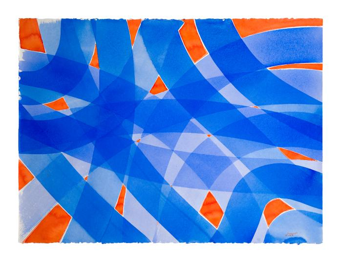 Robert Schwinger, Red and Blue Swirl