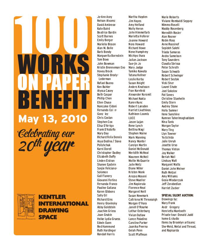100 Works on Paper Benefit, 2010