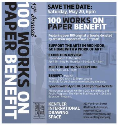 100 Works on Paper Benefit Exhibition