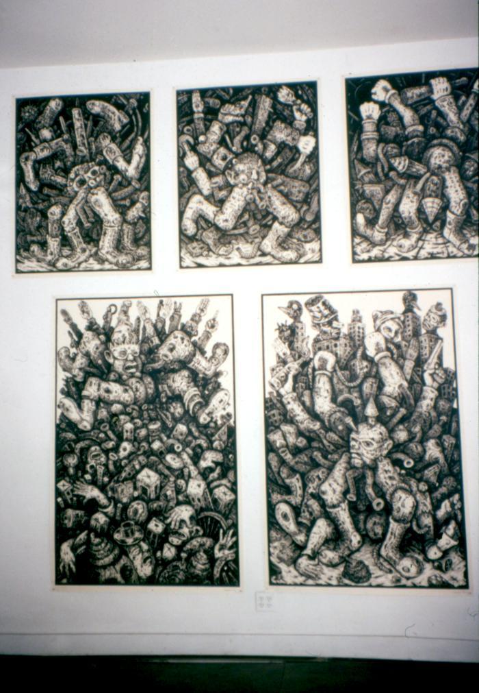 Bill Fick, Satirical Linocuts