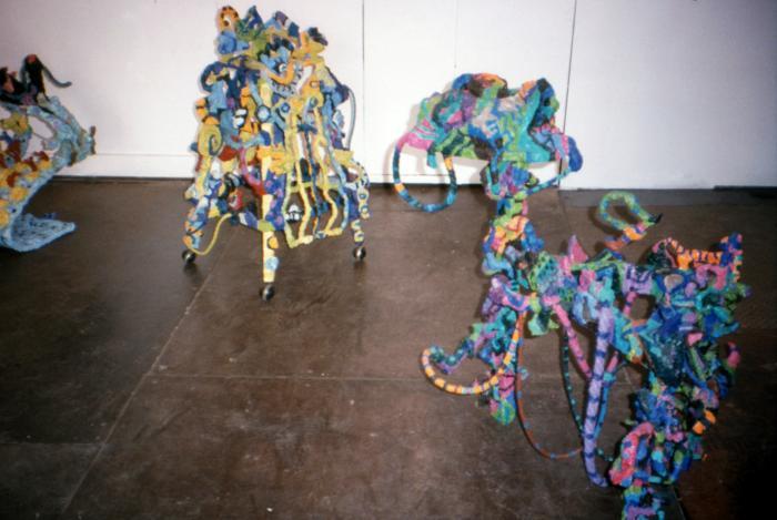 Eileen Weizman, Paper Sculpture Installation