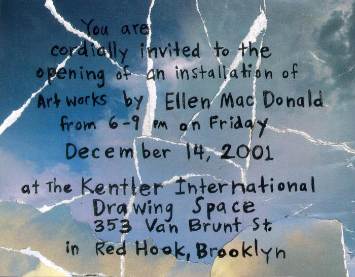 Ellen MacDonald, Paper and Drawing Installation