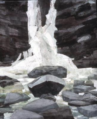 Mariella Bisson, Rocks and Waterfall