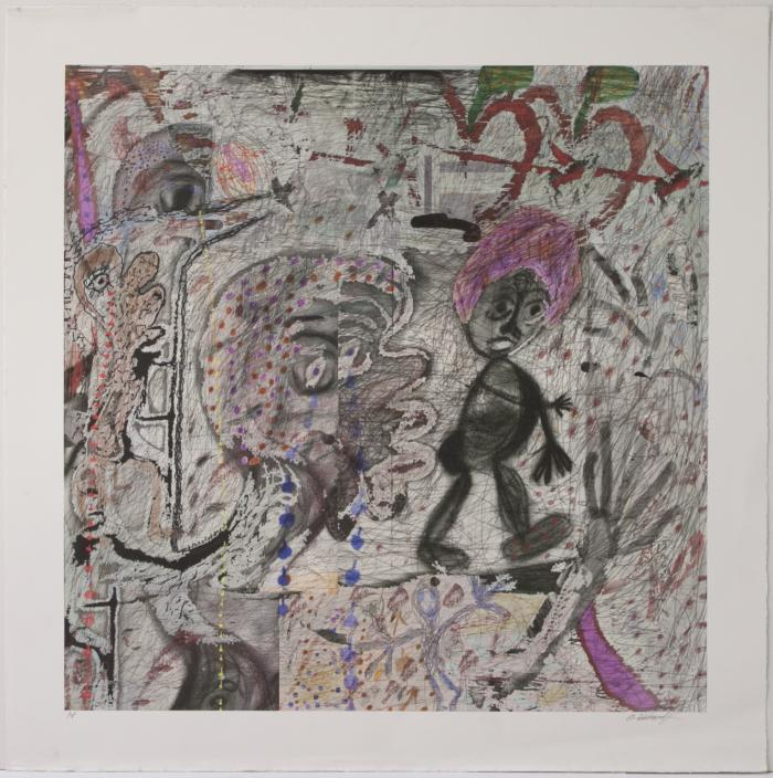 "Orlando Richards, Kissing Ass, digital print, 26"" x 25"", 2008"