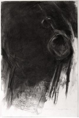 Hugh Williams, Gospel Singer #3, charcoal on paper