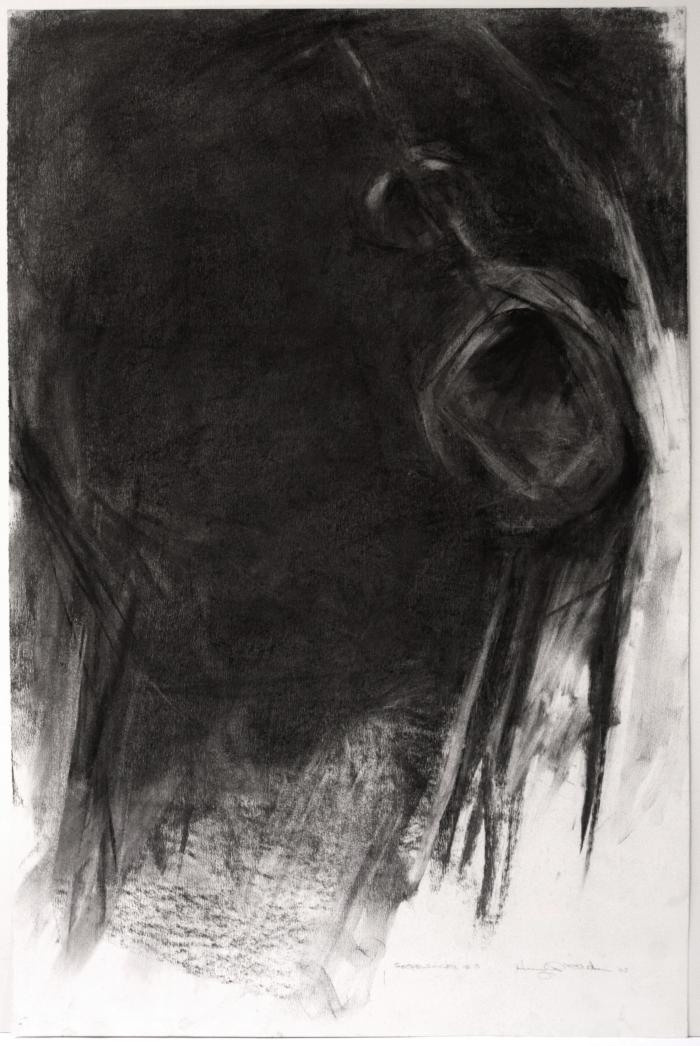 Hugh Williams, Gospel Singer #3, charcoal on paper