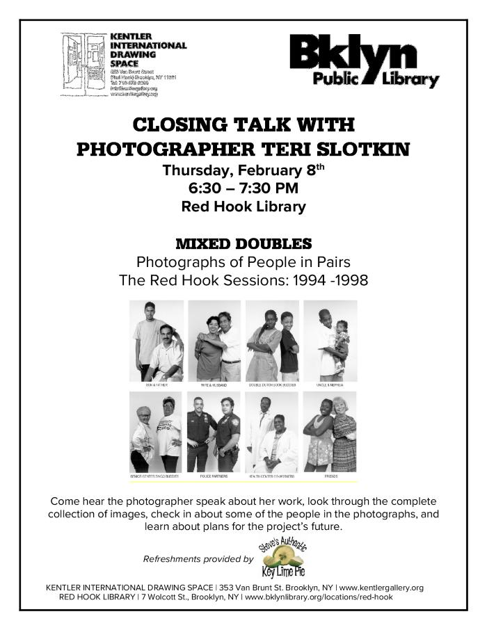 Closing Talk with Teri Slotkin: Mixed Doubles at the Red Hook Library