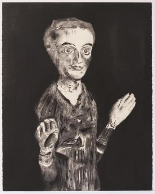 """Herb Reichert, Puppet Femme, pastel on paper, 22"""" x 30"""", 2005"""