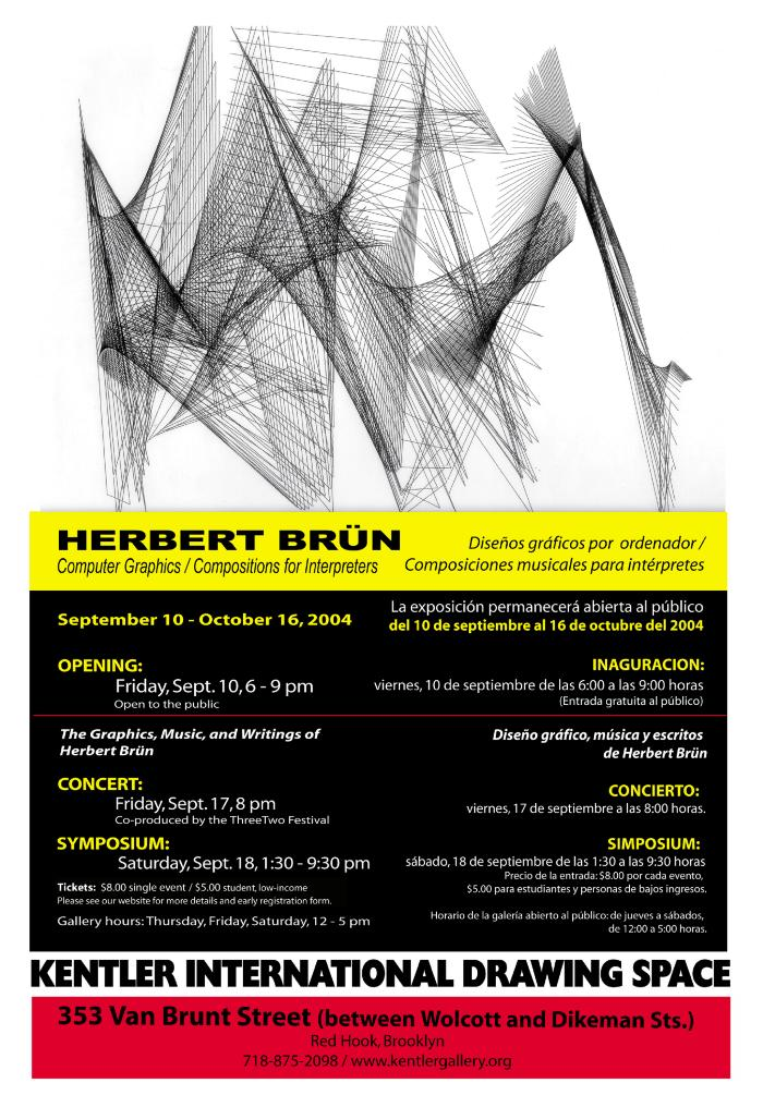 Symposium: The Graphics, Music And Writings Of Herbert Brün