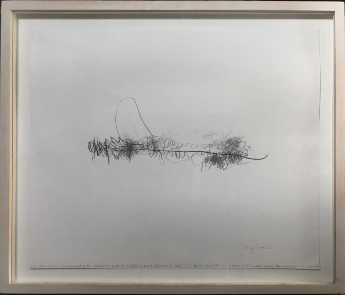 """Live Transmission:Movement of the Hands of Aki Takahashi performing the fifth movement of Giacinto Scelsi's """"Cinque Incantesimi"""" for piano (1953) Merkin Concert Hall, 26/2/97"""
