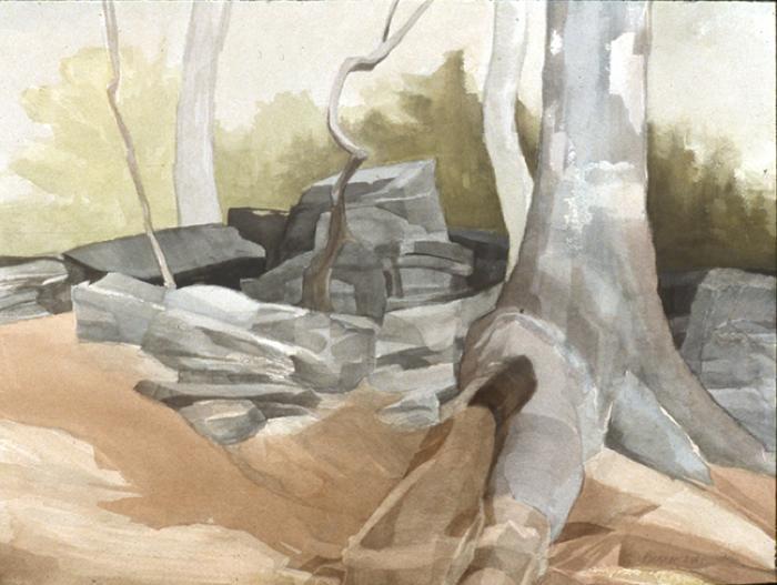 Mariella Bisson, Weir Farm, Rocks & Trees