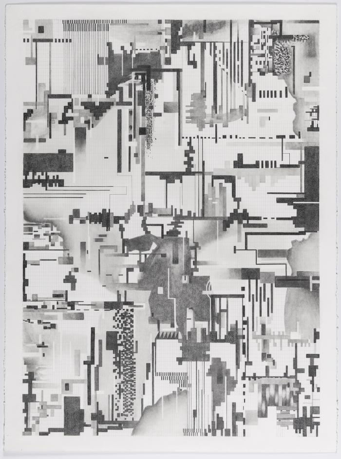Barb Bondy, DeepSeeing V, 2018, graphite on paper, 30 X 22.5 inches