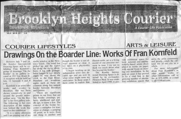 Fran Kornfeld, On the Border