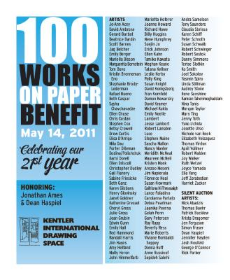 100 Works on Paper Benefit 2011