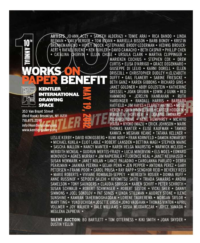 100 Works on Paper Benefit 2012