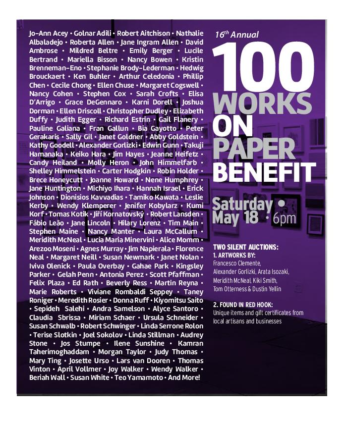 100 Works on Paper BENEFIT: May 18