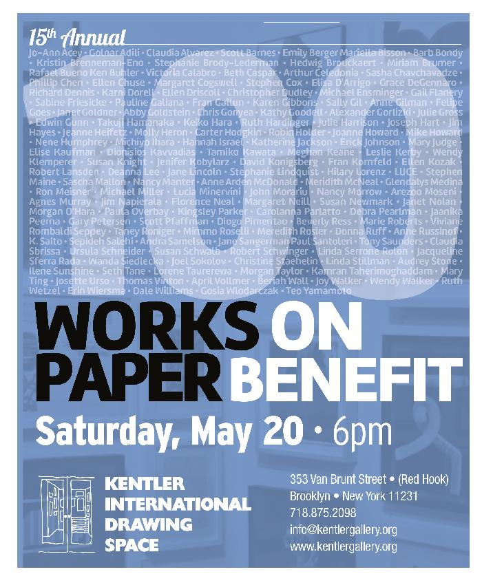 15th Annual 100 Works on Paper Benefit