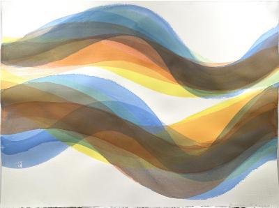 "Margaret Neill, Companion 2, watercolor on paper, 22.5"" x 30"", 2020"