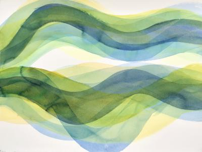"Margaret Neill, Companion 1, watercolor on paper, 22.5"" x 30"", 2020"