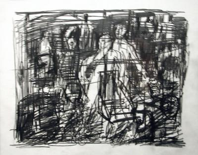 "Robert Sestok, Untitled, graphite on paper, 11"" x 14"""