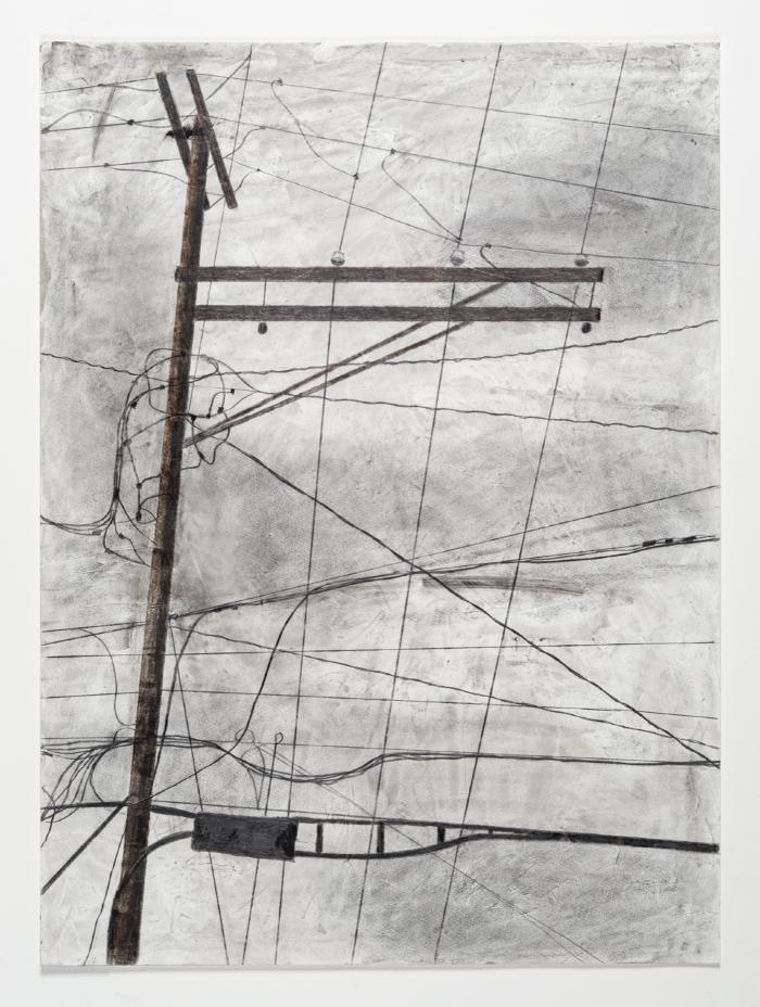 """Kingsley Parker, Technology? #1, acrylic, graphite, colored pencil, India ink, charcoal, 21"""" x 29"""", 2018 (Image credit: Chris Kendall)"""