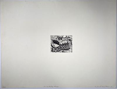 Richard Mock, The Butterfly Trap, linoleum block print, ed. 15/35, 1979