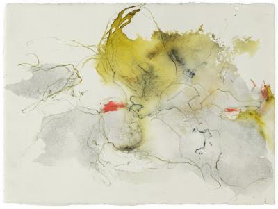 """Margaret Cogswell, Drawing Thru 2020 - May, watercolor and colored pencil on paper, 9"""" x 12"""", 2020"""