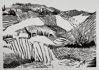 Toscana, Linocut