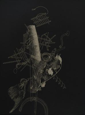 "Phillip Chen, Emphatic Fallacy, etching, 31"" x 23"", 2000"