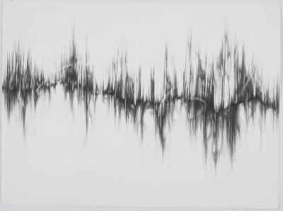"Dawn Lee, Resonance #5, graphite on paper, 22"" x 30"", 2008"
