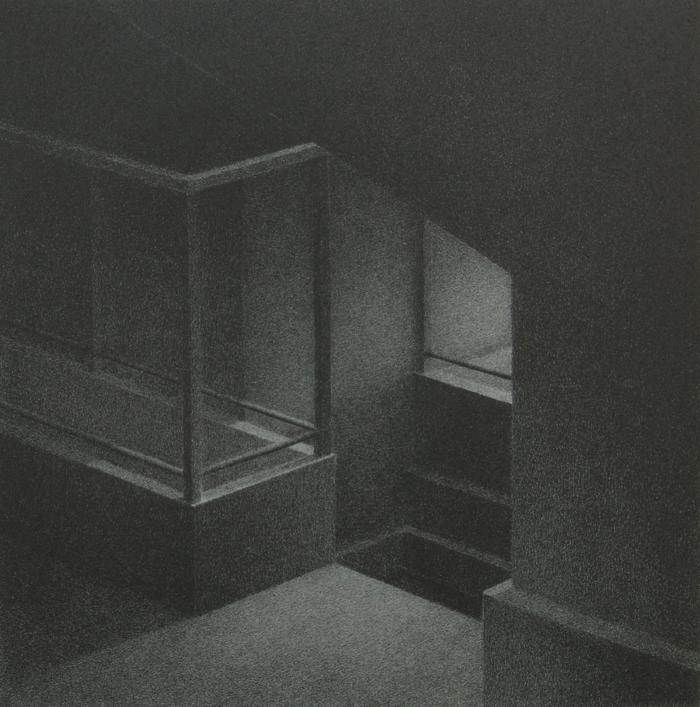 "Phillip Chen, Stone Boat: Incidence, lithograph, 6.375"" x 6.25"", 1996"