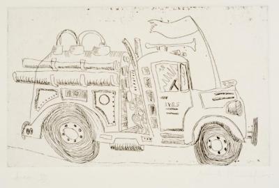 """John Himmelfarb, Ives, etching, 11"""" x 15"""", 2007"""
