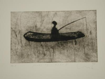 """LUCE, Jours Paisibles (Peaceful Days), etching, 5.75"""" x 9.5"""", 1998"""