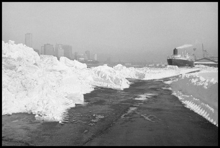 Janet Neuhauser, After the Blizzard, Pier, 1985